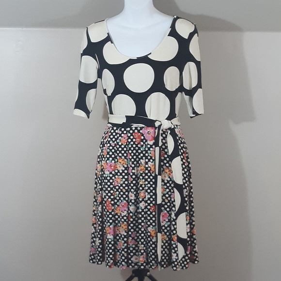 Modcloth Dresses & Skirts - ModCloth Elemental Blend A-Line Dress Polka Dots